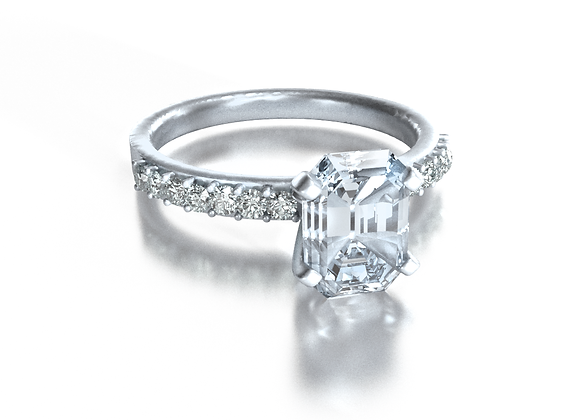 Emerald Pave Solitaire