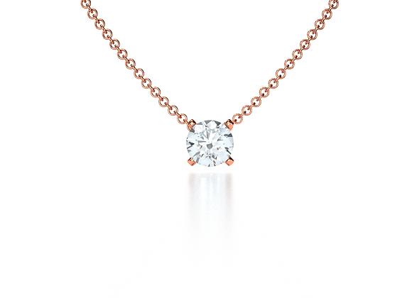 Classic Diamond Pendant (Rose Gold)