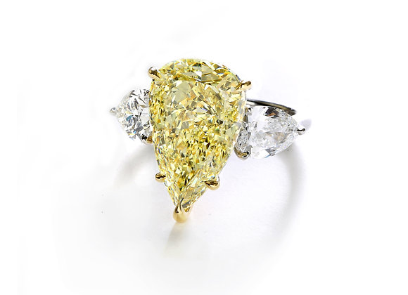 7ct Fancy Intense Yellow Pear