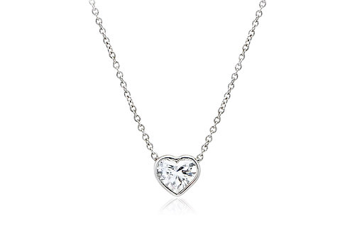Heart shaped diamond pendant aloadofball Gallery