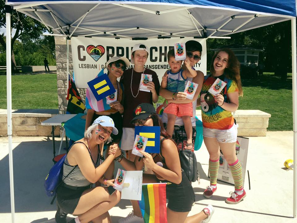 CCLGBT Booth at San Marcos Pride!