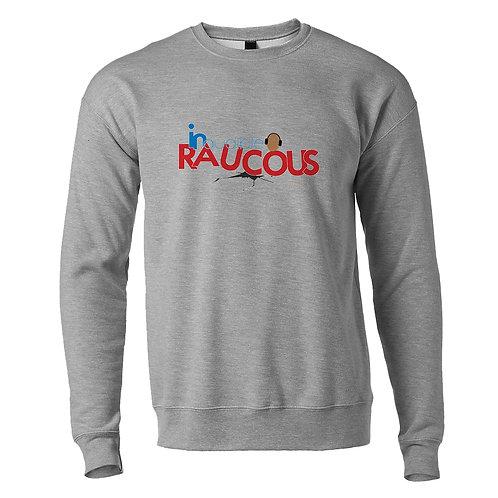 Inaudible Raucous Heather Gray Fleece Crew Sweatshirt