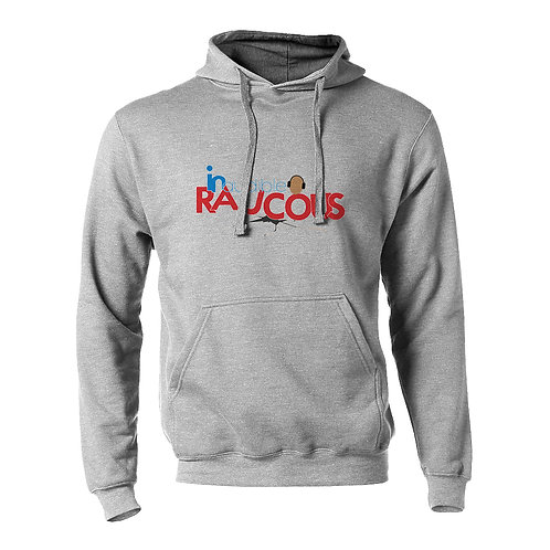 Inaudible Raucous Heather Gray Fleece Pullover Hoodie