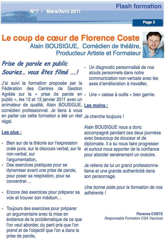 article FCGA ALAIN BOUSIGUE_formation pr