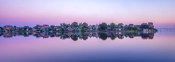 Sunrise and Reflection of Homes in Zaanse Schans