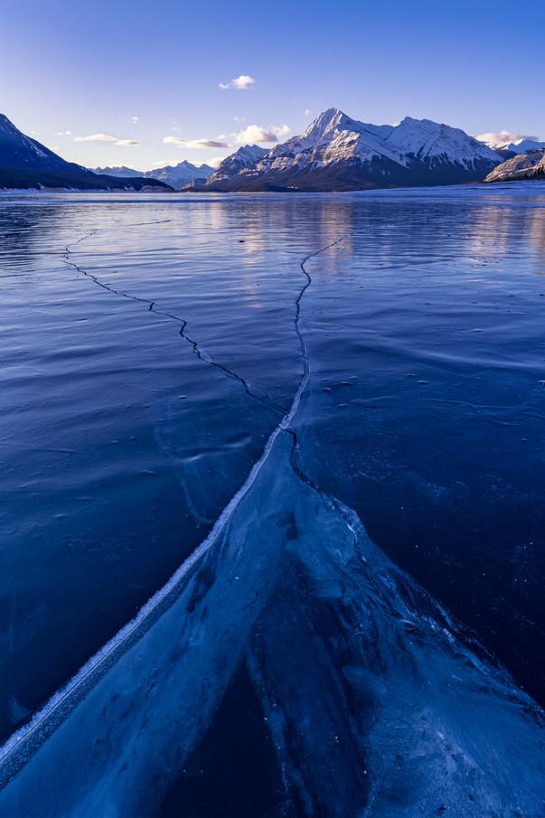 Ice Cracks at Abraham Lake