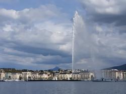 the jet d'eau over lake Geneva