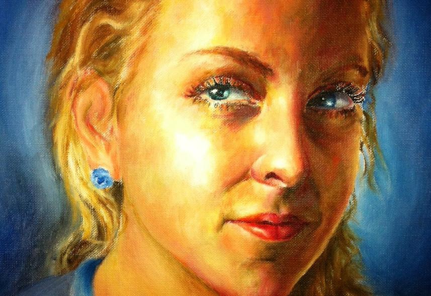 Kindle - an Oil Portrait