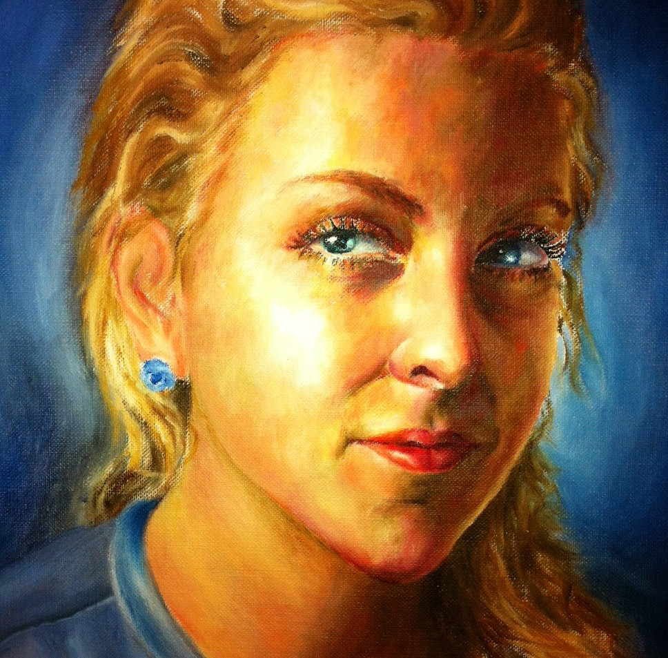 Kindle - an Oil Portrait