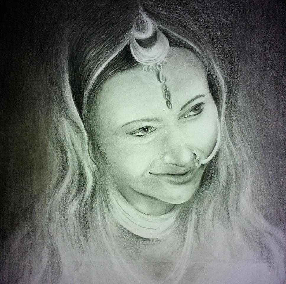 Indian Bride in Pencil