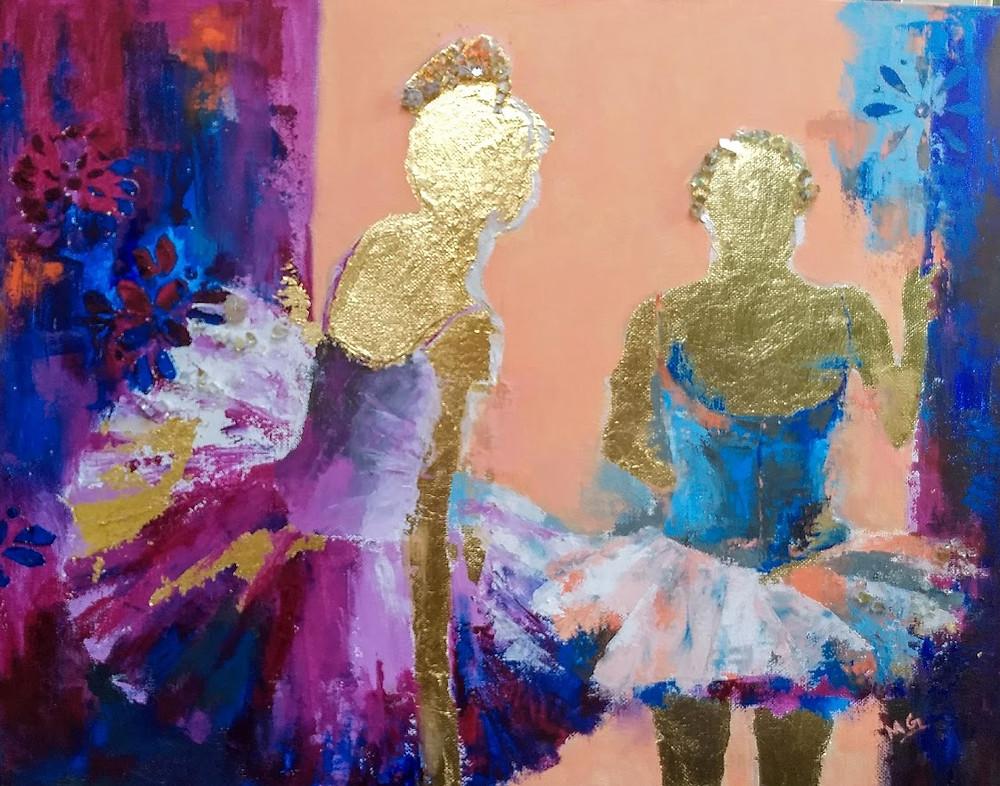 Ballerinas - Abstract Representational Art
