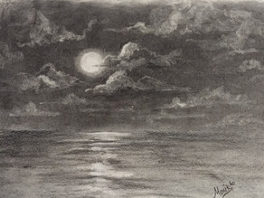 How to draw clouds using charcoal