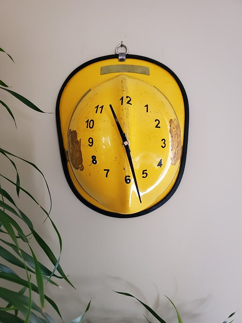 Fire Helmet Clock