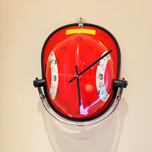 Red Captain's Fire Helmet Clock