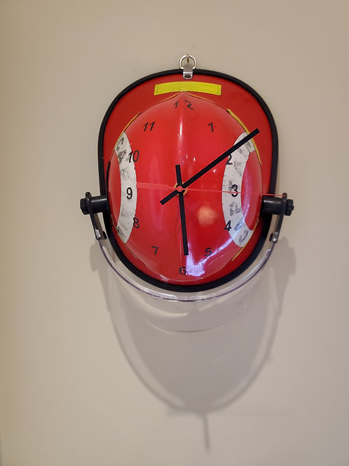 Red Captain's Fire Helmet Clock