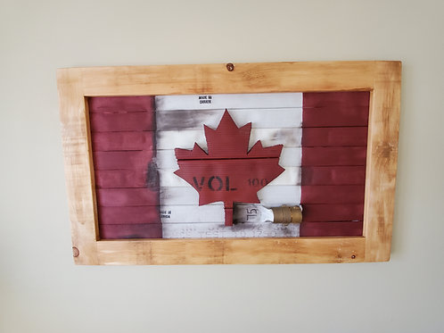 Smooth Edge Canadian Flag with Embossed Maple Leaf