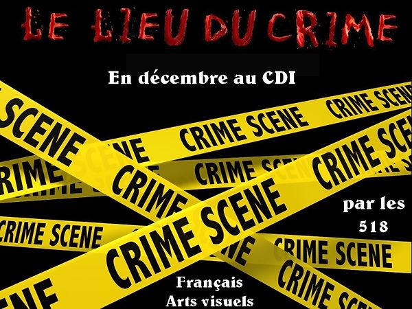 Le lieu du crime (expo cdi)