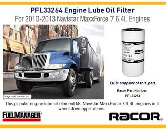 Navistar MaxxForce Oil Filter - Racor