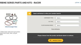 New Tool to Find Turbine Series Parts & Kits