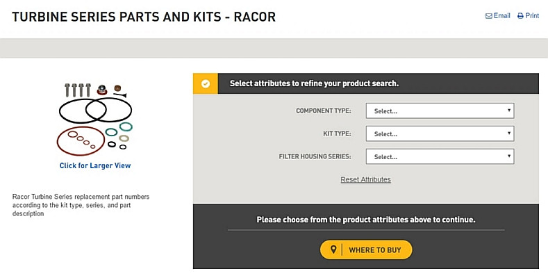 Find Racor Turbine Series Parts and Kits