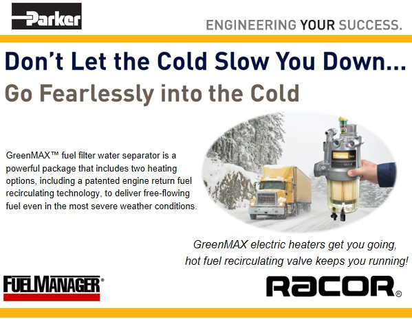 Racor Greenmax the cold weather driving solution