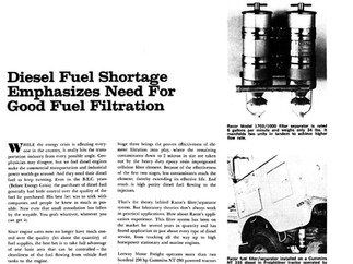 Throwback Thursday: Diesel Fuel Shortage 1974