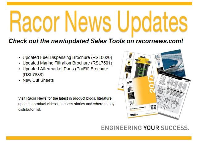 Racor News Literature Updates July 6, 2017
