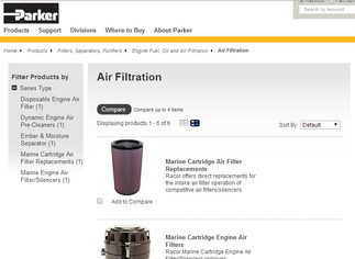 New Racor Air Filter Part Selector  Page