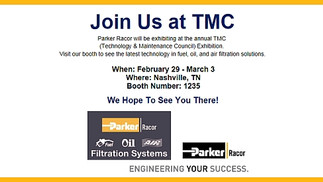Join Racor at TMC: Booth #1235