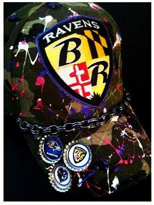 RAVENS FANS SODA TOP CUSTOM CAP