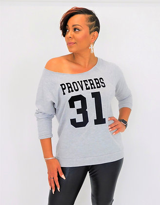 PROVERBS 31 OFF THE SHOULDER TSHIRT