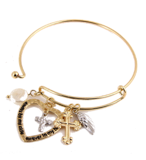 GOLD CROSS TOOGLE BRACELET