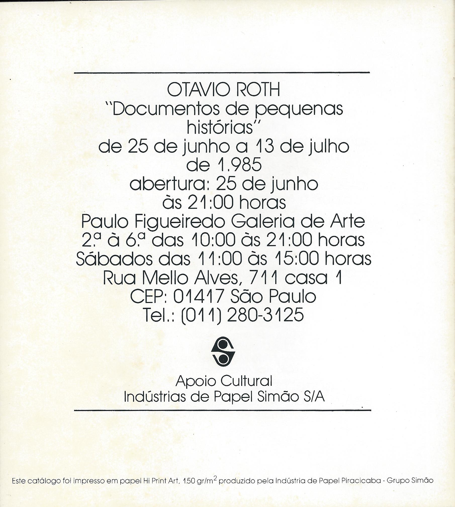 Individual - Paulo Figueiredo Galeria 1985 contra-capa