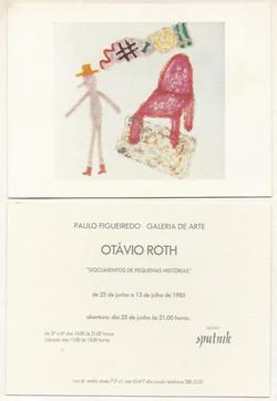 Individual - Paulo Figueiredo Galeria 1985 Convite