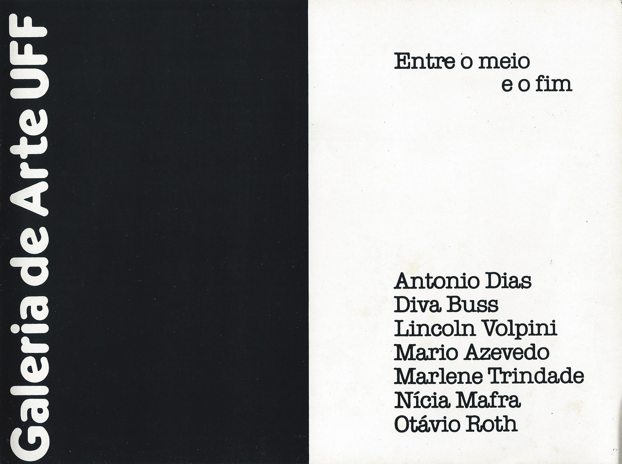 Coletiva Entre o meio e o fim - UFF 1984 1
