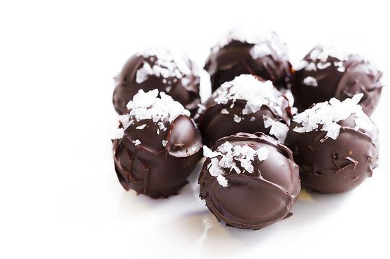 Trufas de chocolat con sal marina