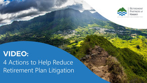 Video: 4 Actions to Help Reduce Retirement Plan Litigation