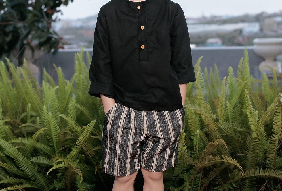 Camisa lino Rustic Black