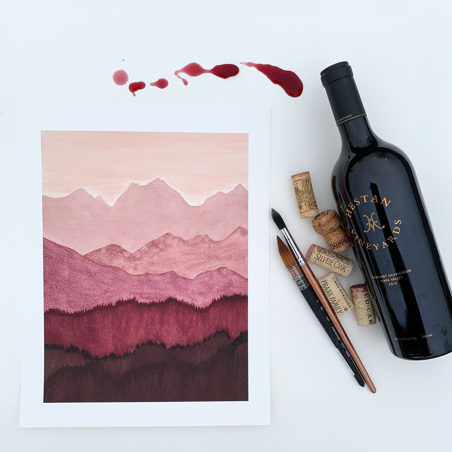 Elysia Myers Wine Art