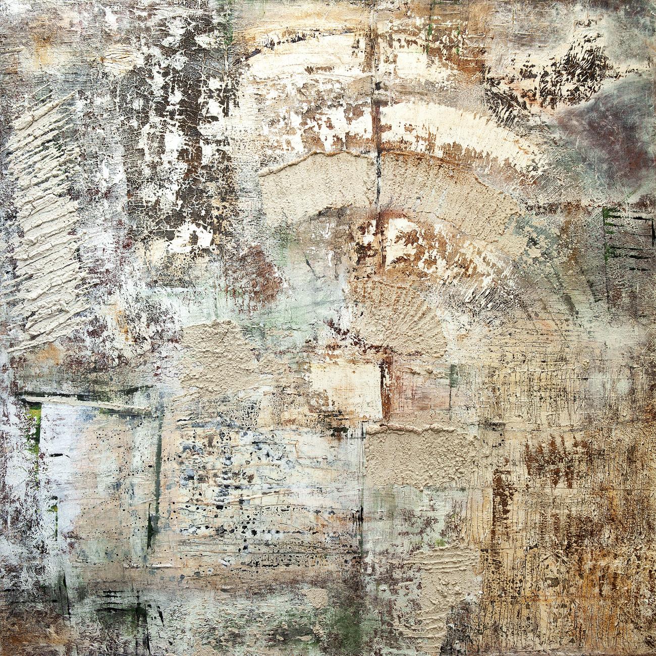 Exedra, mixta sobre lienzo,100x100cm, 2018