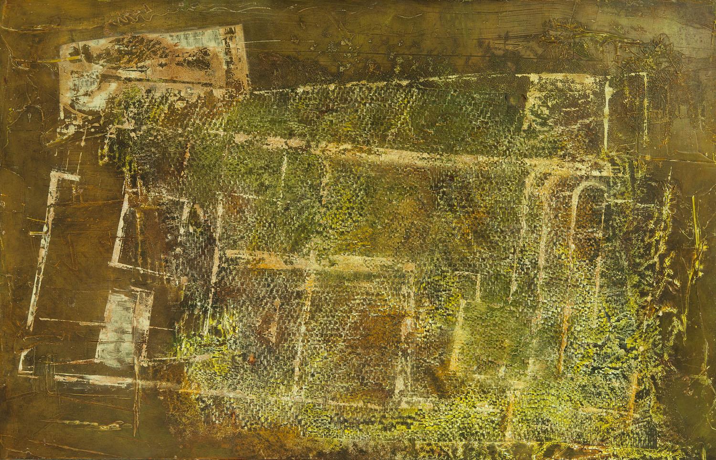 Praeteritum Tempus, mixta sobre madera, 65x100cm, 2018