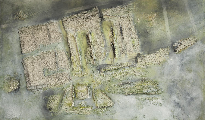 Ancestor, mixta sobre lienzo, 105x180cm, 2018