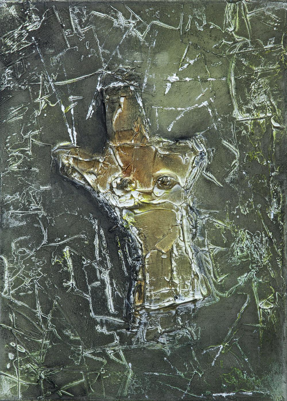 Talismán, óleo sobre lienzo, 35x25cm, 2018