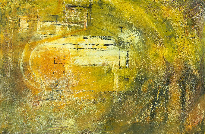 Sanctum, mixta sobre lienzo, 65x100cm, 2018