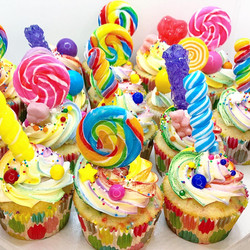 Candy Explosion Cupcakes