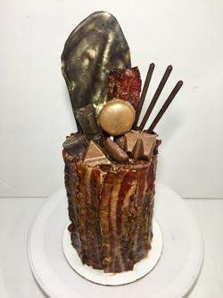 Bacon Caramel Chocolate Cake