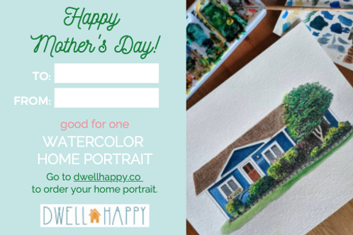 Mother's Day Home Portrait Gift Card