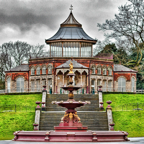 THE PAVILION AND FOUNTAIN
