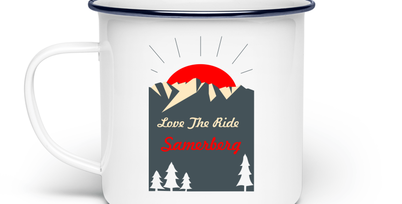 "Emaille Tasse ""Love The Ride"""