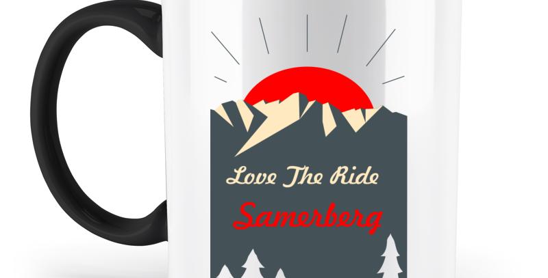 "Kaffeebecher 2-farbig ""Love The Ride"""